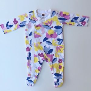Tea Collection | Baby Girl Floral Footed Coverall